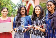 engineer students make drone